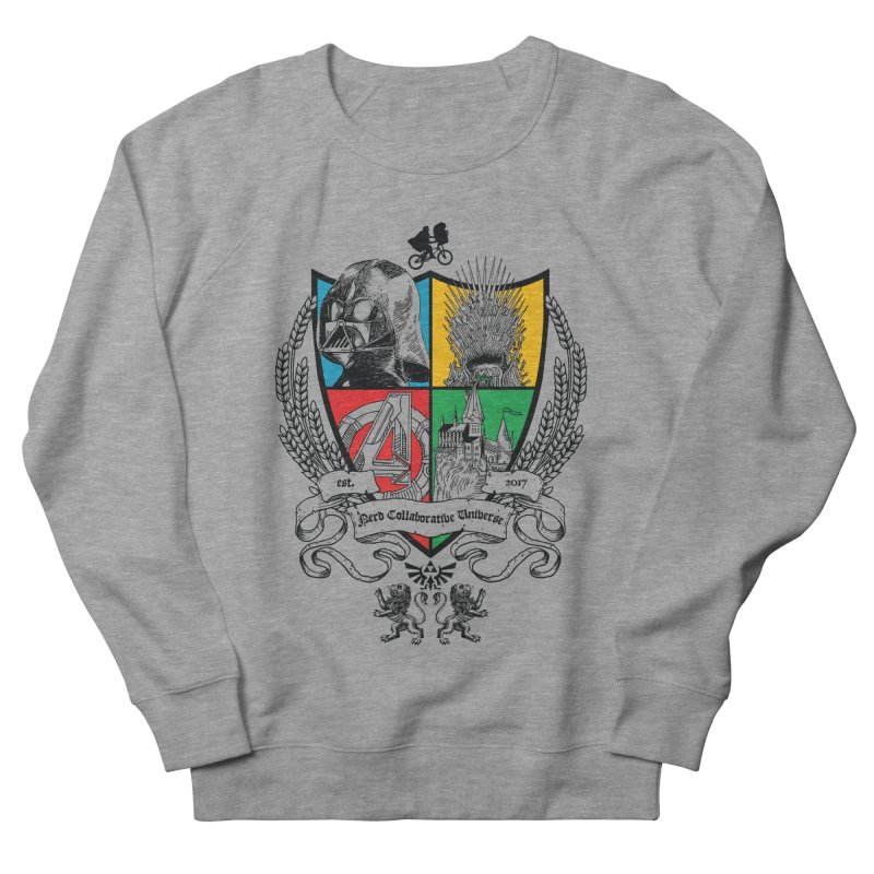 Nerd Crest Men's French Terry Sweatshirt by The Nerd Collaborative Universe