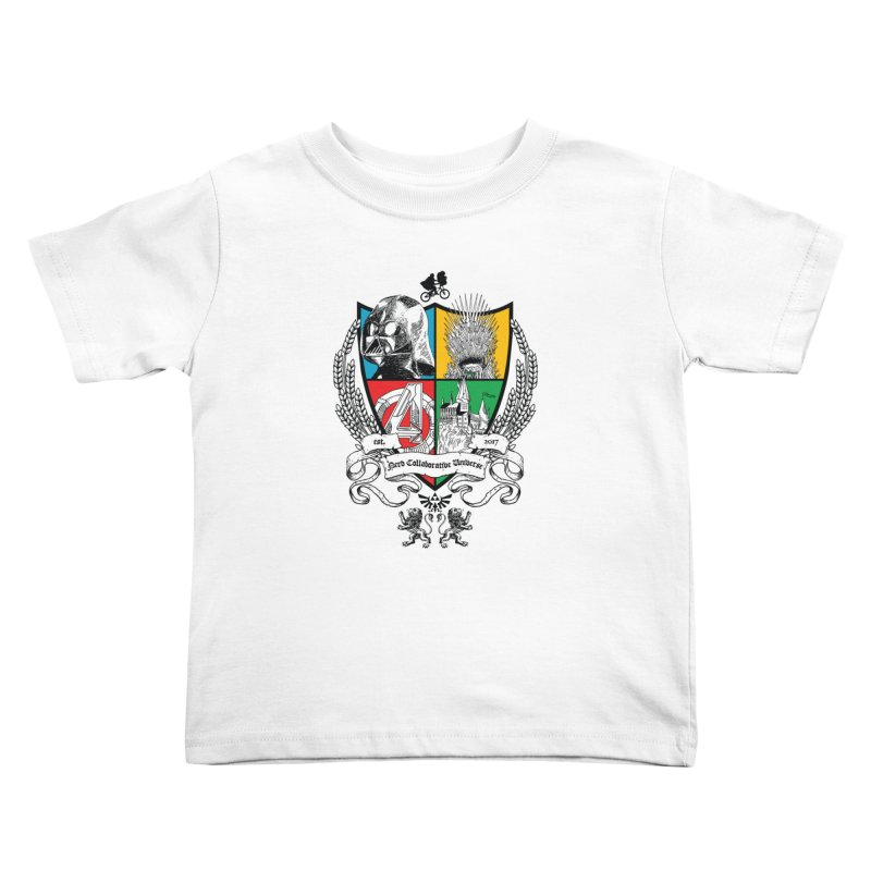 Nerd Crest Kids Toddler T-Shirt by The Nerd Collaborative Universe