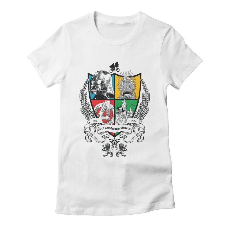 Nerd Crest Women's Fitted T-Shirt by The Nerd Collaborative Universe