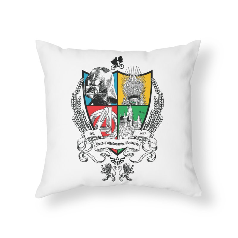 Nerd Crest Home Throw Pillow by The Nerd Collaborative Universe