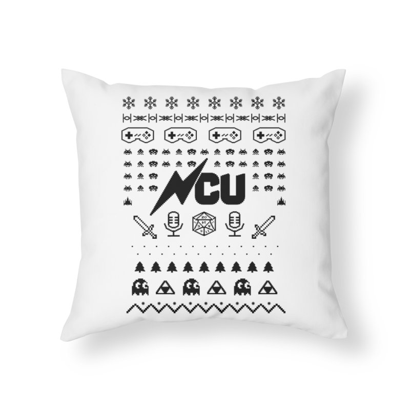 8-Bit Holiday Sweater Home Throw Pillow by The Nerd Collaborative Universe