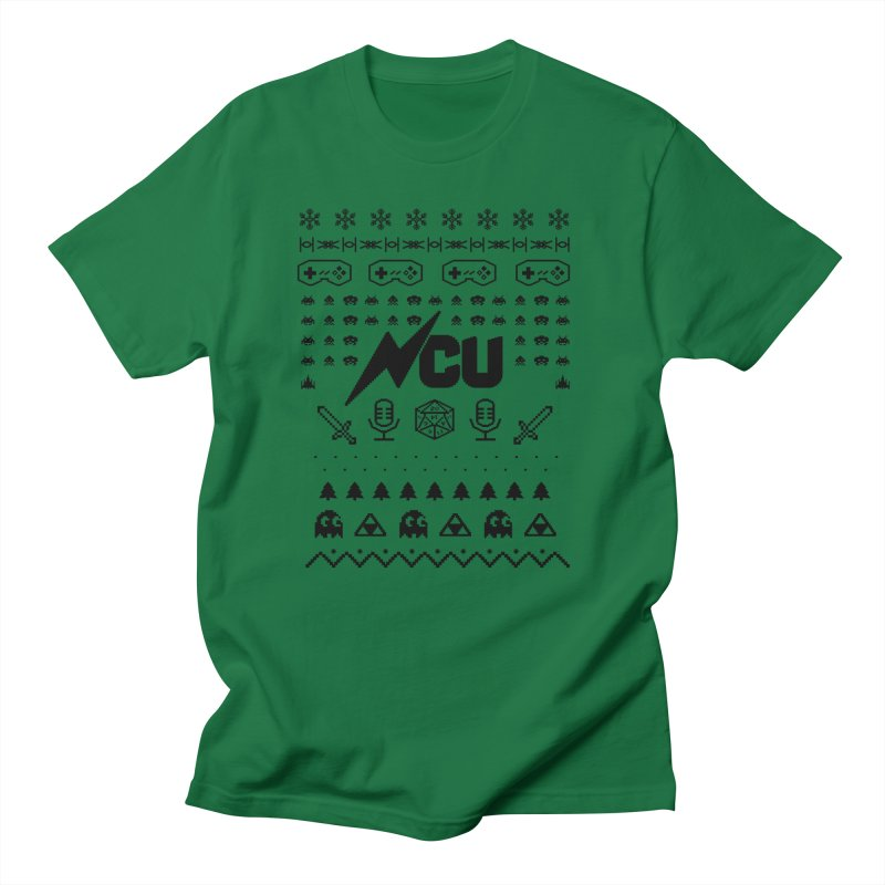 8-Bit Holiday Sweater Men's T-Shirt by The Nerd Collaborative Universe