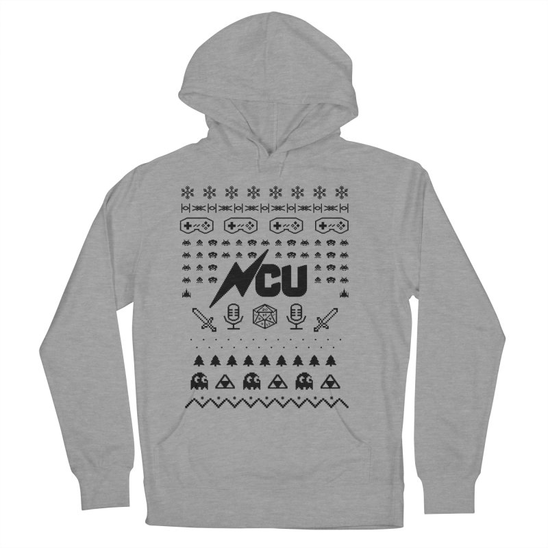 8-Bit Holiday Sweater Men's French Terry Pullover Hoody by The Nerd Collaborative Universe