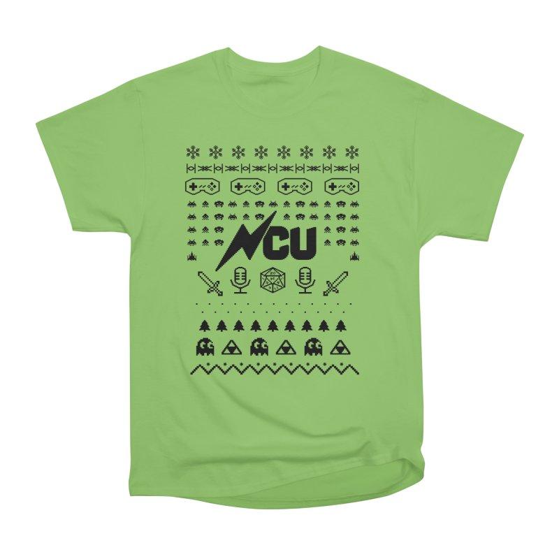 8-Bit Holiday Sweater Women's Heavyweight Unisex T-Shirt by The Nerd Collaborative Universe