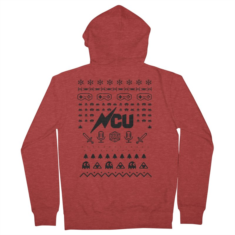 8-Bit Holiday Sweater Women's French Terry Zip-Up Hoody by The Nerd Collaborative Universe