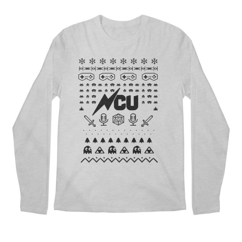 8-Bit Holiday Sweater Men's Regular Longsleeve T-Shirt by The Nerd Collaborative Universe