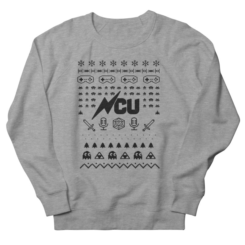 8-Bit Holiday Sweater Women's French Terry Sweatshirt by The Nerd Collaborative Universe