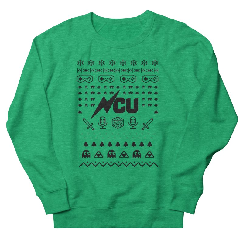 8-Bit Holiday Sweater Men's French Terry Sweatshirt by The Nerd Collaborative Universe