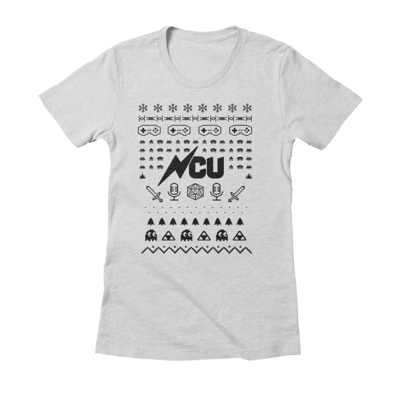 8-Bit Holiday Sweater Women's Fitted T-Shirt by The Nerd Collaborative Universe