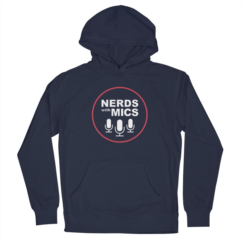 Nerds with Mics Logo in Men's French Terry Pullover Hoody Navy by Nerds with Mics Official Store