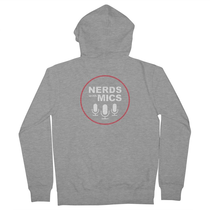 Nerds with Mics Logo Women's French Terry Zip-Up Hoody by Nerds with Mics Official Store