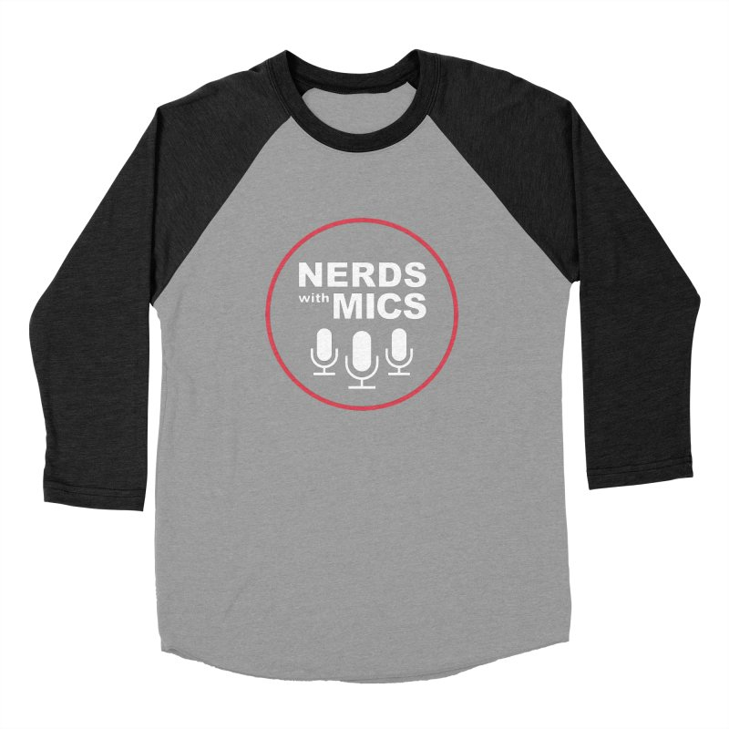 Nerds with Mics Logo Men's Baseball Triblend T-Shirt by Nerds with Mics Official Store
