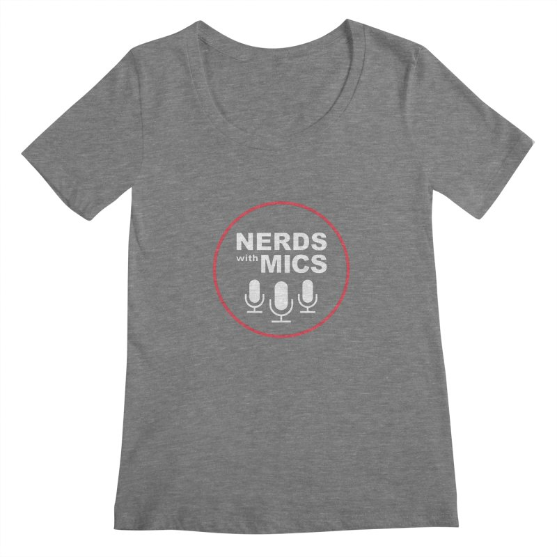 Nerds with Mics Logo Women's Scoopneck by Nerds with Mics Official Store