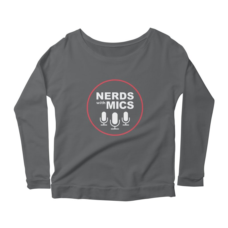 Nerds with Mics Logo Women's Scoop Neck Longsleeve T-Shirt by Nerds with Mics Official Store