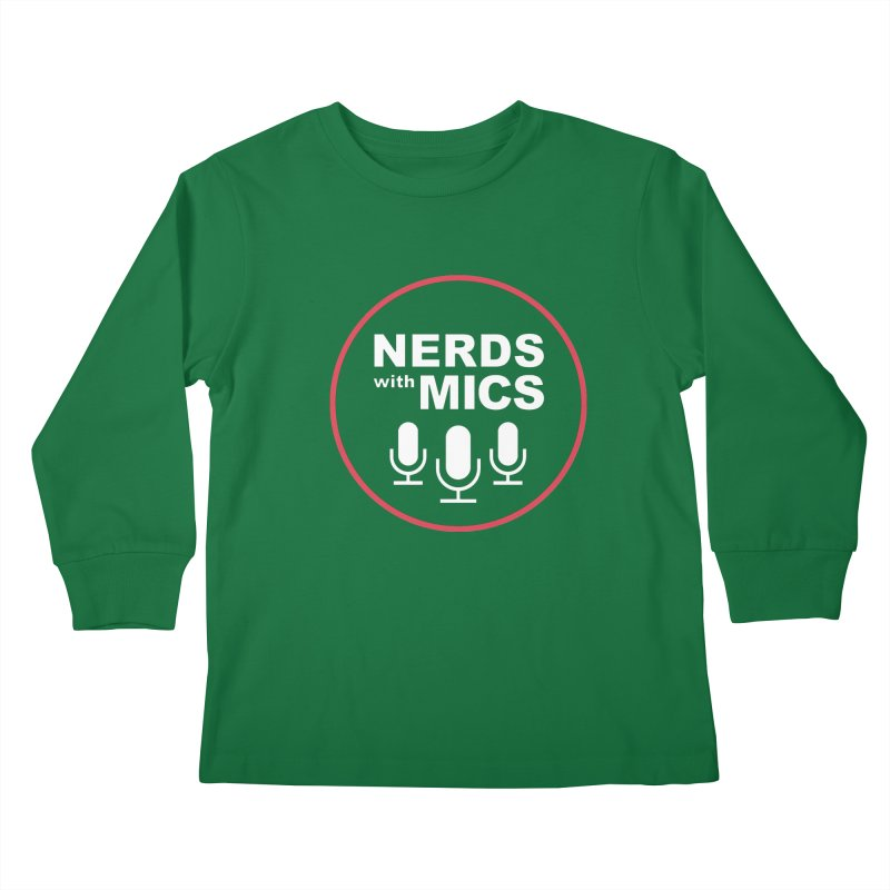 Nerds with Mics Logo Kids Longsleeve T-Shirt by Nerds with Mics Official Store