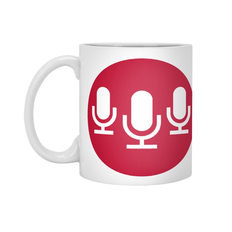 Red Circle Logo Accessories Mug by Nerds with Mics Official Store