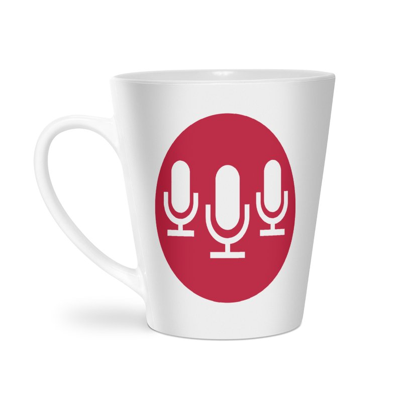 Red Circle Logo Accessories Latte Mug by Nerds with Mics Official Store