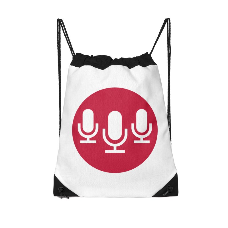 Red Circle Logo in Drawstring Bag by Nerds with Mics Official Store