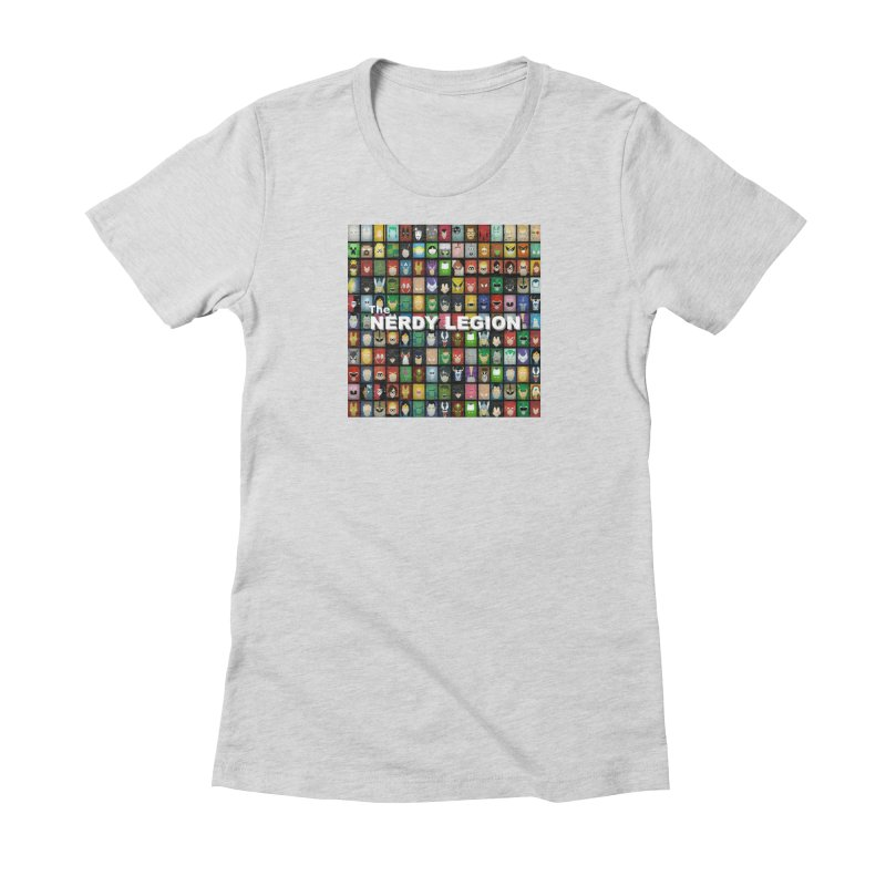 Nerdy Legion Women's Fitted T-Shirt by Nerdy Legion Shop