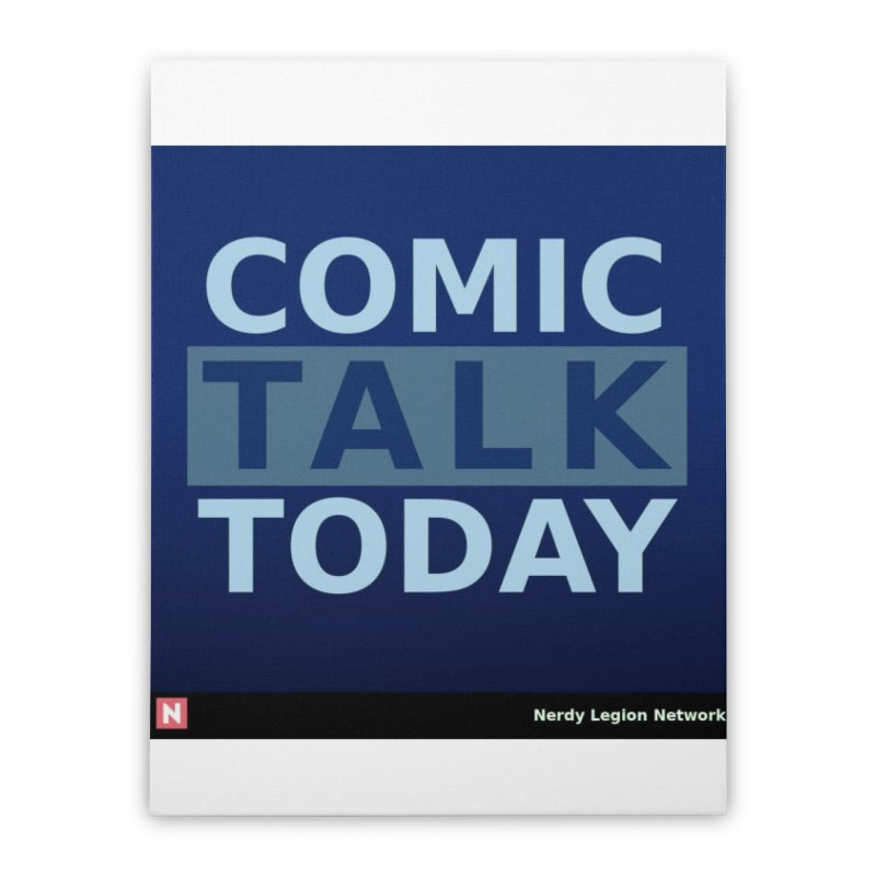 Comic Talk Today Home Stretched Canvas by Nerdy Legion Shop