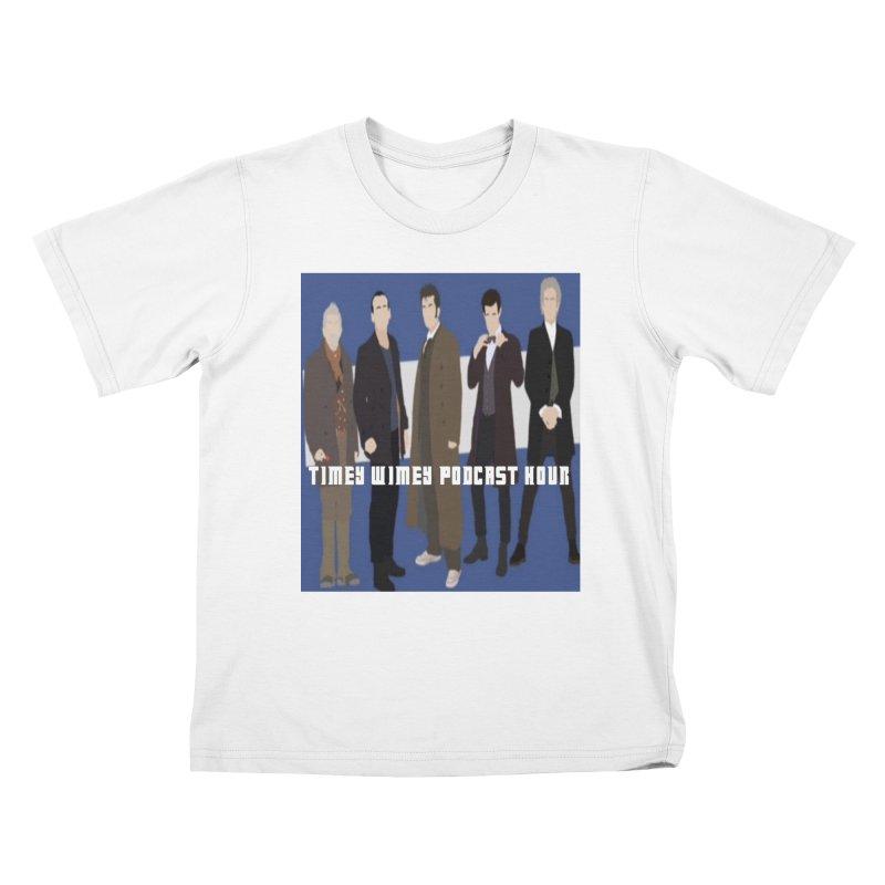 Time Wimey Podcast Hour Kids T-Shirt by Nerdy Legion Shop