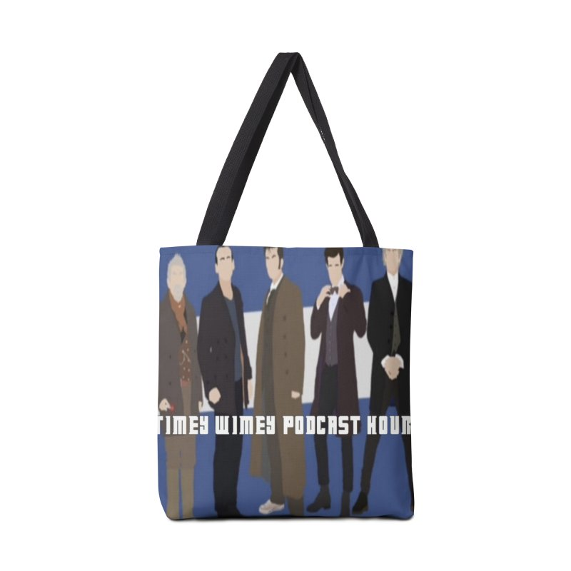 Time Wimey Podcast Hour Accessories Tote Bag Bag by Nerdy Legion Shop