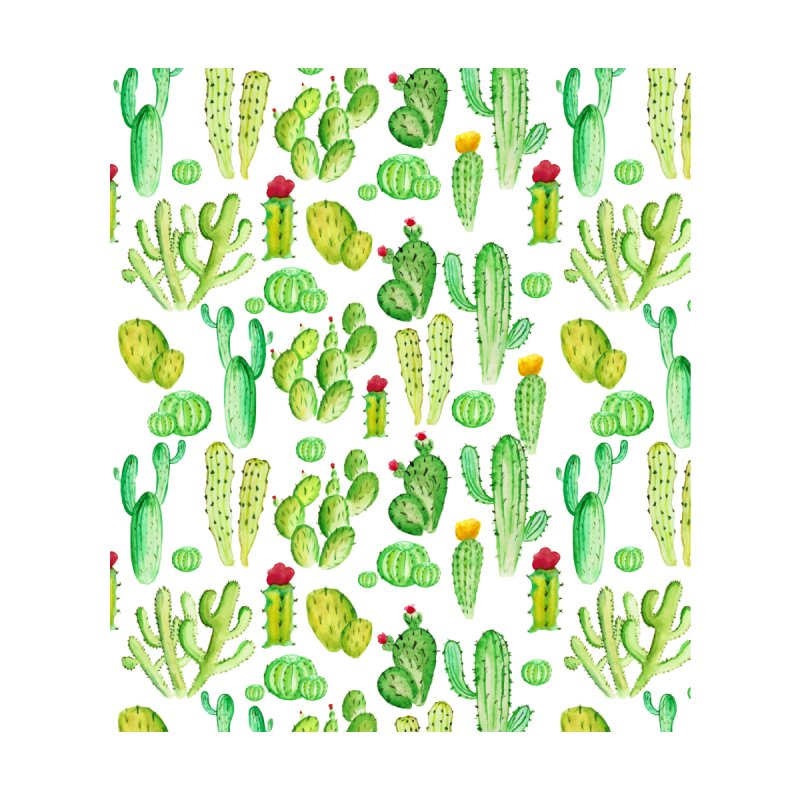 watercolor cactus seamless pattern Women's V-Neck by nereia's Artist Shop