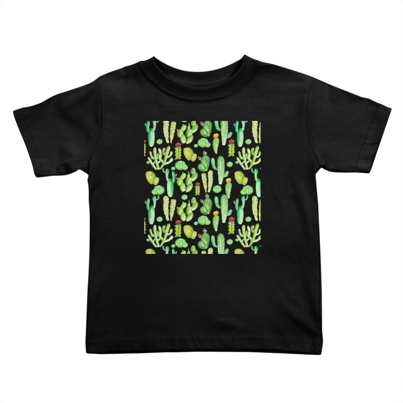 watercolor cactus seamless pattern Kids Toddler T-Shirt by nereia's Artist Shop
