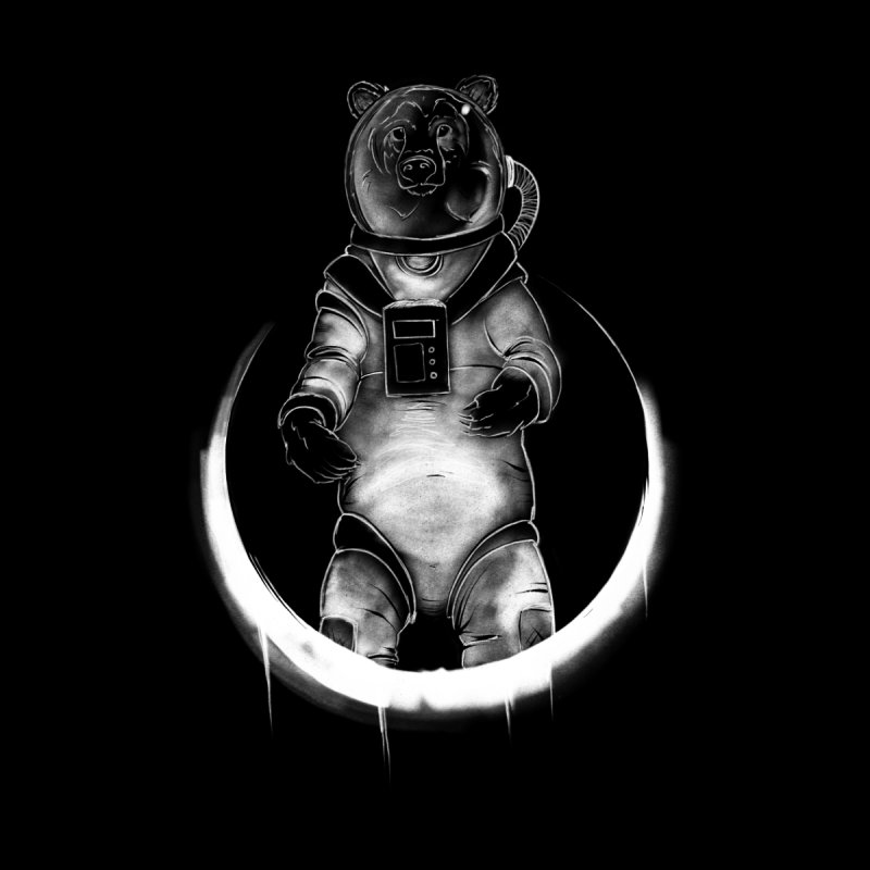 Space Bear Men's Pullover Hoody by McGarry Design