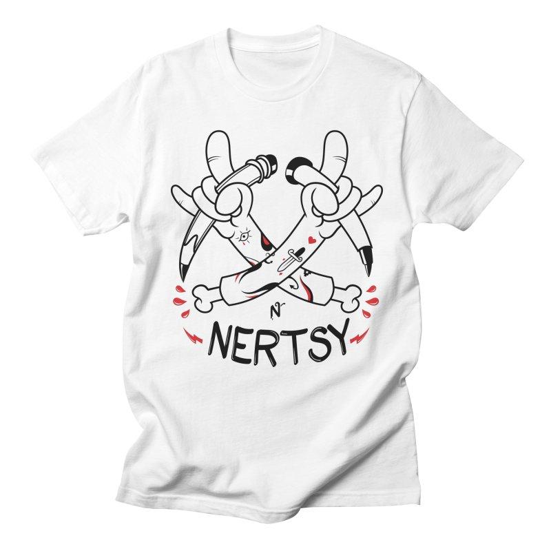 Create On! in Men's Regular T-Shirt White by Nertsy