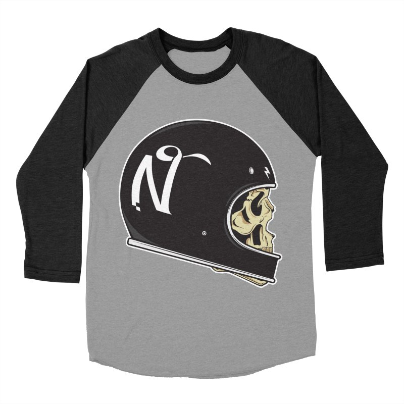 Live Fast in Men's Baseball Triblend Longsleeve T-Shirt Heather Onyx Sleeves by Nertsy