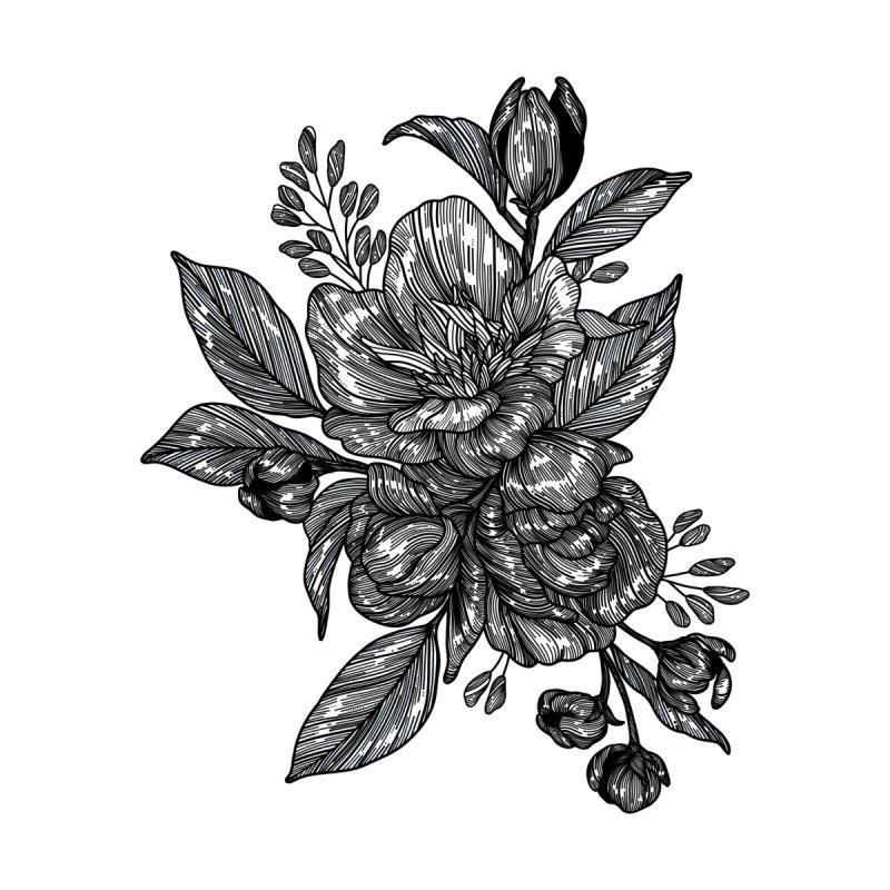 Flower 2 (Black) by nestingzone's Artist Shop