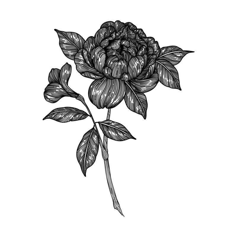 Flower 4 (Black) by nestingzone's Artist Shop