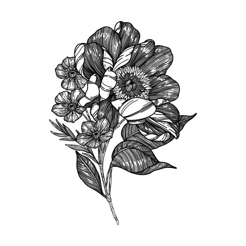 Flower 5 (Black) by nestingzone's Artist Shop