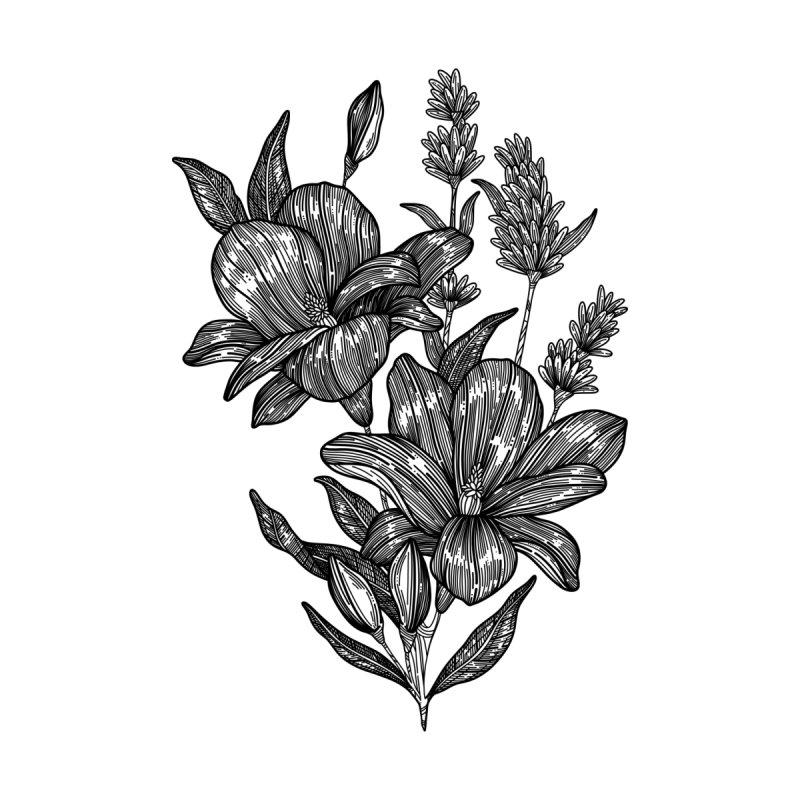 Flower 6 (Black) by nestingzone's Artist Shop