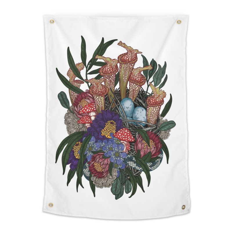 Nest (White) Home Tapestry by nestingzone's Artist Shop