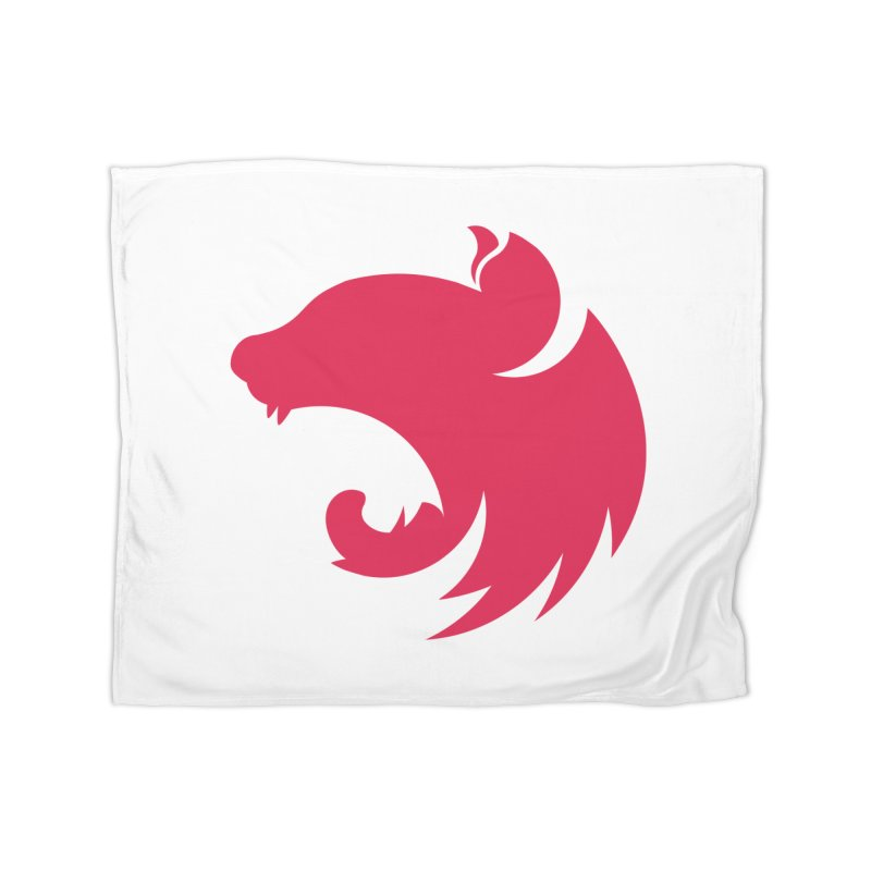 Logo Home Fleece Blanket Blanket by The NestJS Shop