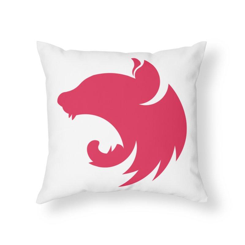 Logo Home Throw Pillow by The NestJS Shop