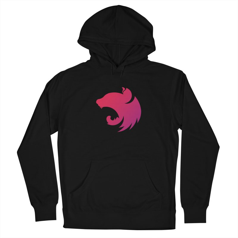 Logo gradient in Women's French Terry Pullover Hoody Black by The NestJS Shop