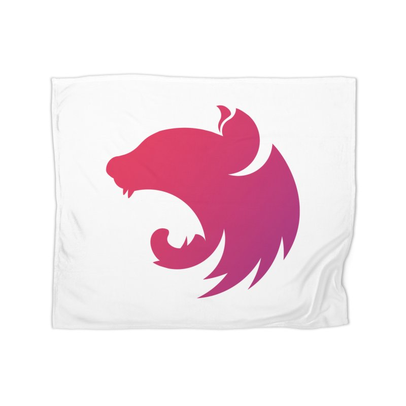 Logo gradient Home Fleece Blanket Blanket by The NestJS Shop