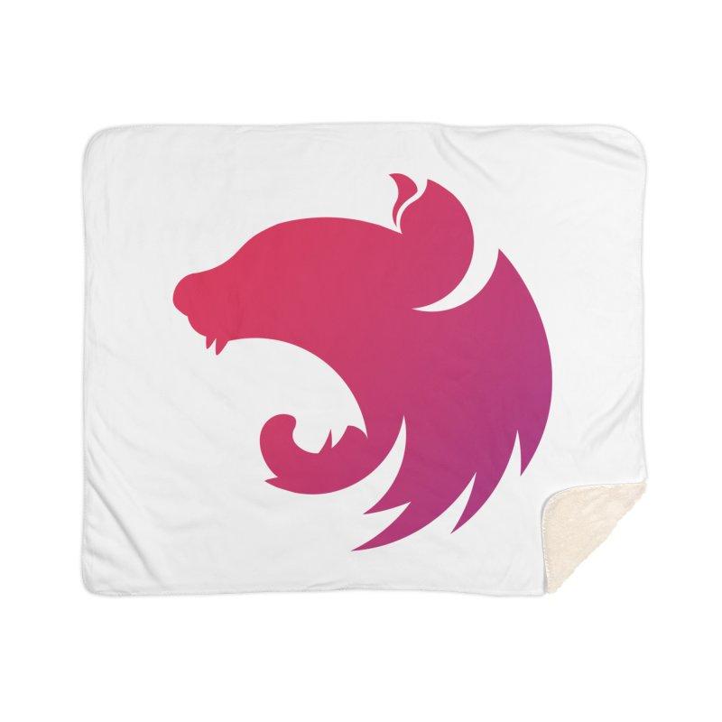 Logo gradient Home Sherpa Blanket Blanket by The NestJS Shop