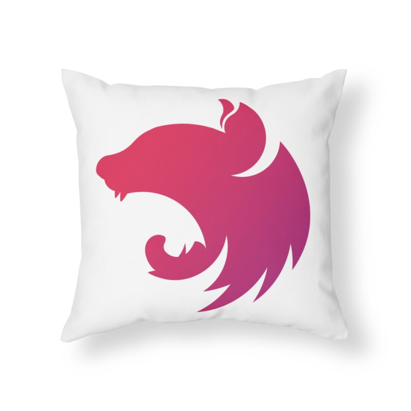 Logo gradient Home Throw Pillow by The NestJS Shop