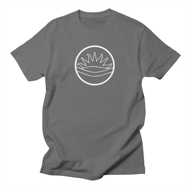 Edmontonian Flag Emblem (white) Men's T-Shirt by Designs by Ryan McCourt