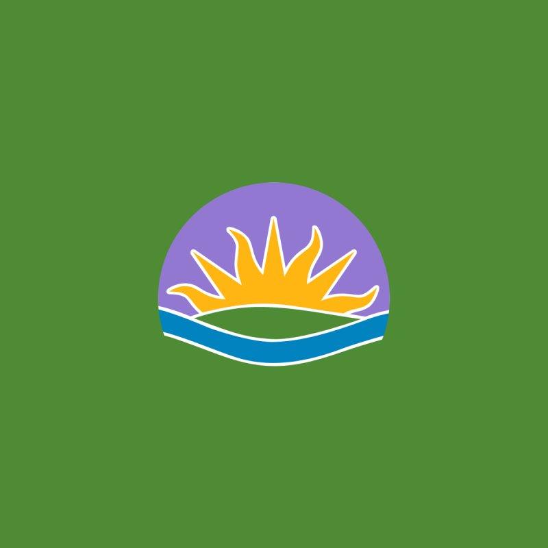 Edmonton Flag Colour Emblem shirt (green) Men's Tank by Designs by Ryan McCourt