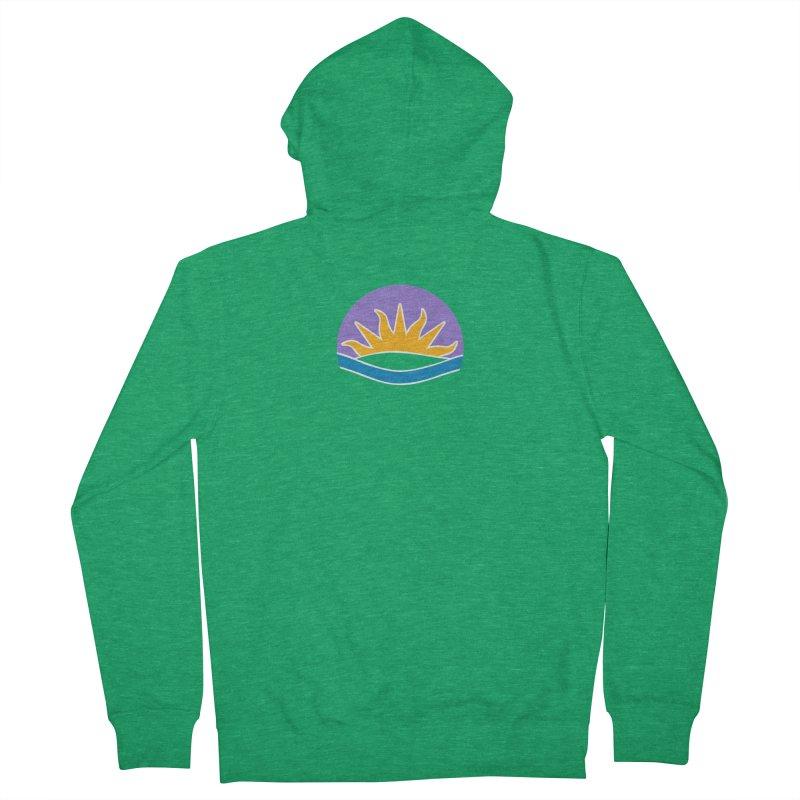 Edmonton Flag Colour Emblem shirt (green) Men's Zip-Up Hoody by Designs by Ryan McCourt