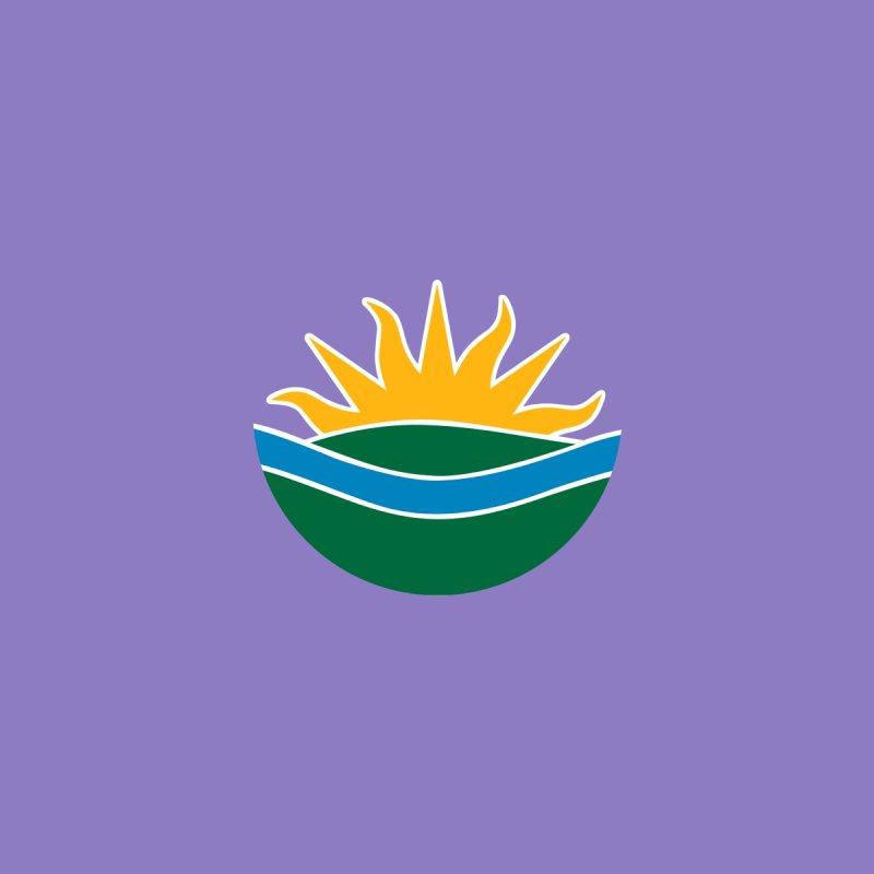 Edmonton Flag Colour Emblem shirt (purple) Men's T-Shirt by Designs by Ryan McCourt
