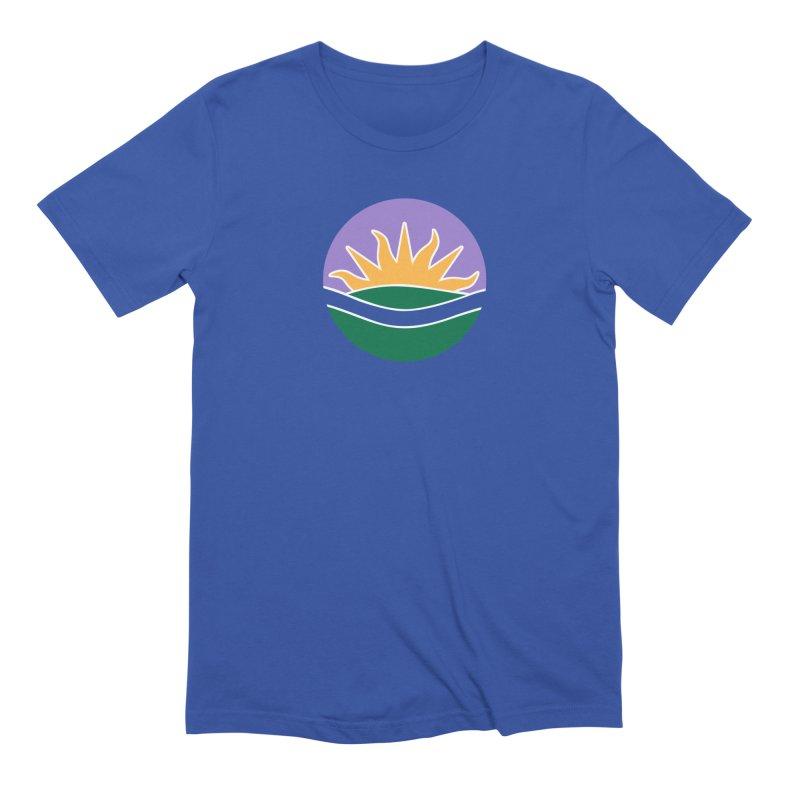 Edmonton Flag Colour Emblem shirt (blue) Men's T-Shirt by Designs by Ryan McCourt