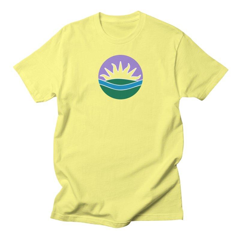 Edmonton Flag Colour Emblem shirt (yellow) Men's T-Shirt by Designs by Ryan McCourt