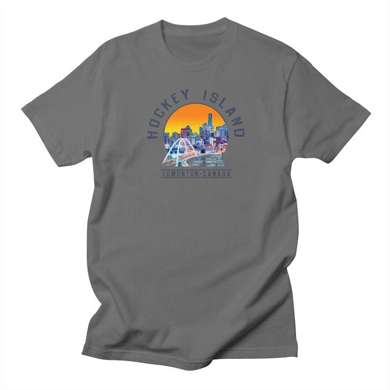 Hockey Island Men's T-Shirt by Designs by Ryan McCourt