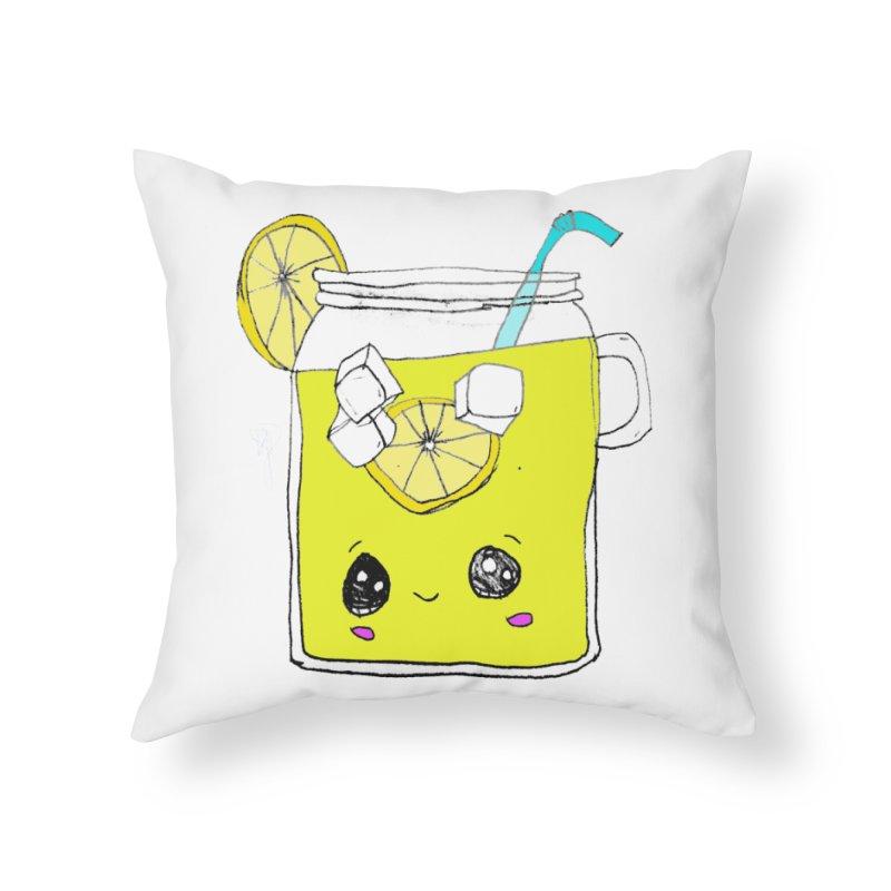 Cute Lemonade Home Throw Pillow by Designs by Ryan McCourt